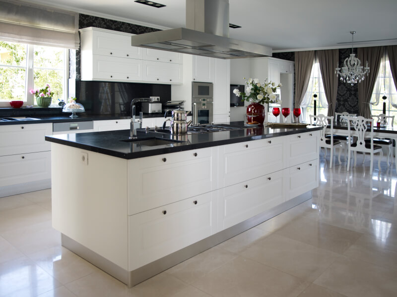 In Addition Modern Deisgn For Large Kitchens Large Kitchen Design