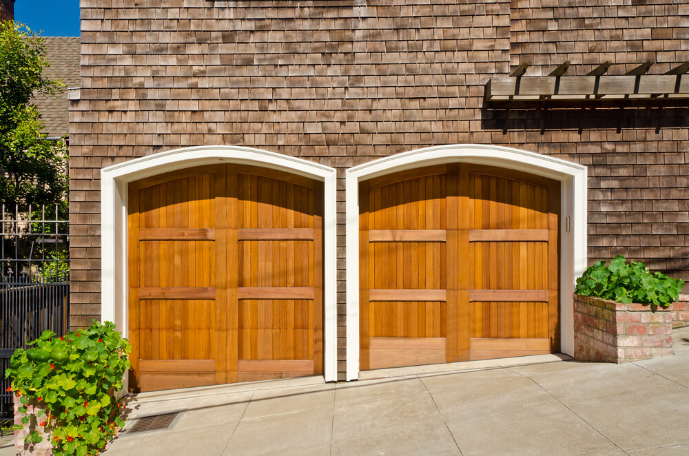 60 residential garage door designs pictures for Garage side door and frame