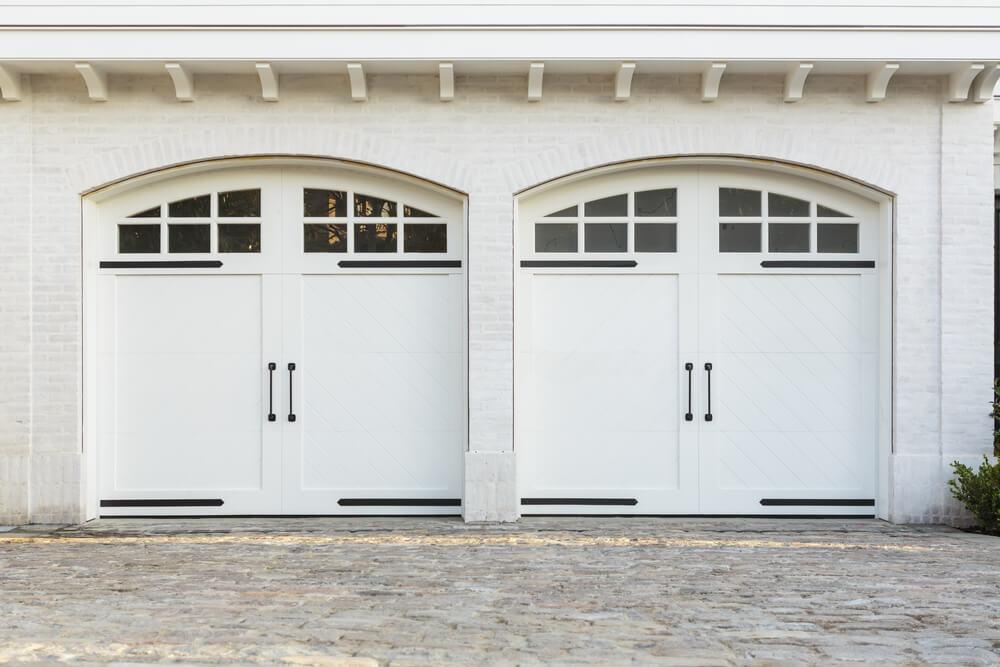 60 residential garage door designs pictures - Double wooden garage doors ...