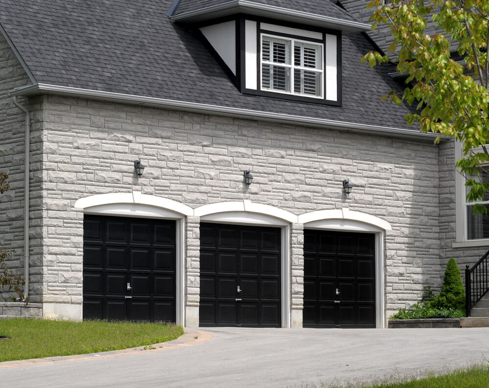 60 residential garage door designs pictures for Three car garage