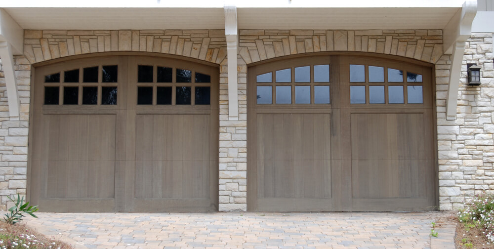 60 residential garage door designs pictures for Two car garage doors