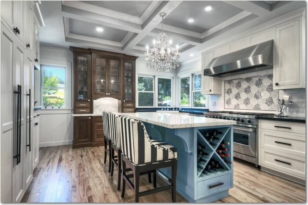 41 white kitchen interior design decor ideas pictures - Light blue and white kitchen ...