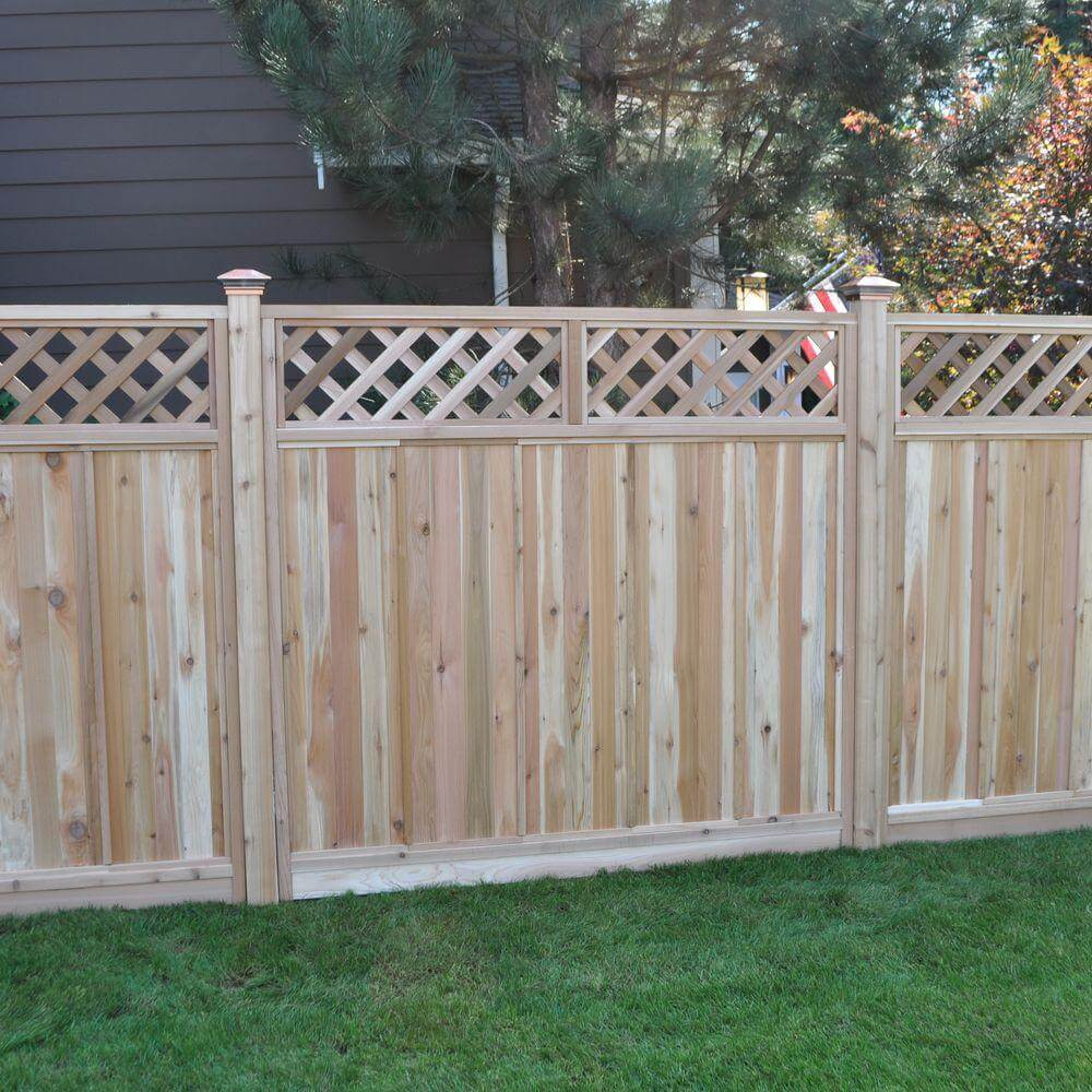 75 fence designs and ideas backyard front yard for Using lattice as fencing