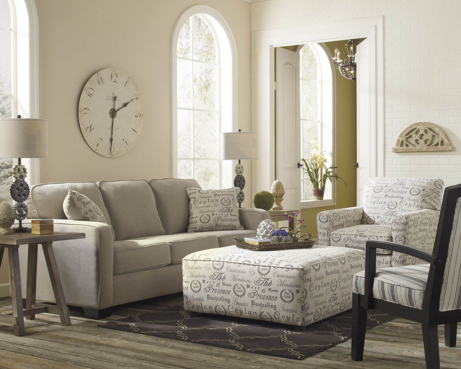47 beautiful living rooms with ottoman coffee tables for Does a living room need a coffee table