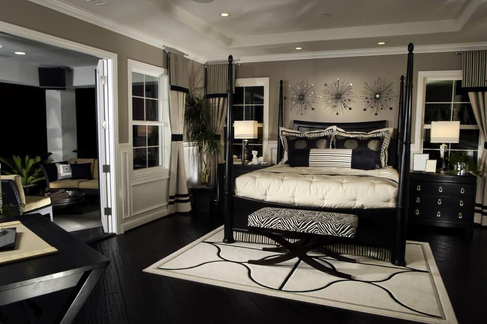 12 zebra bedroom d cor themes ideas designs pictures for Bedroom flooring ideas pinterest