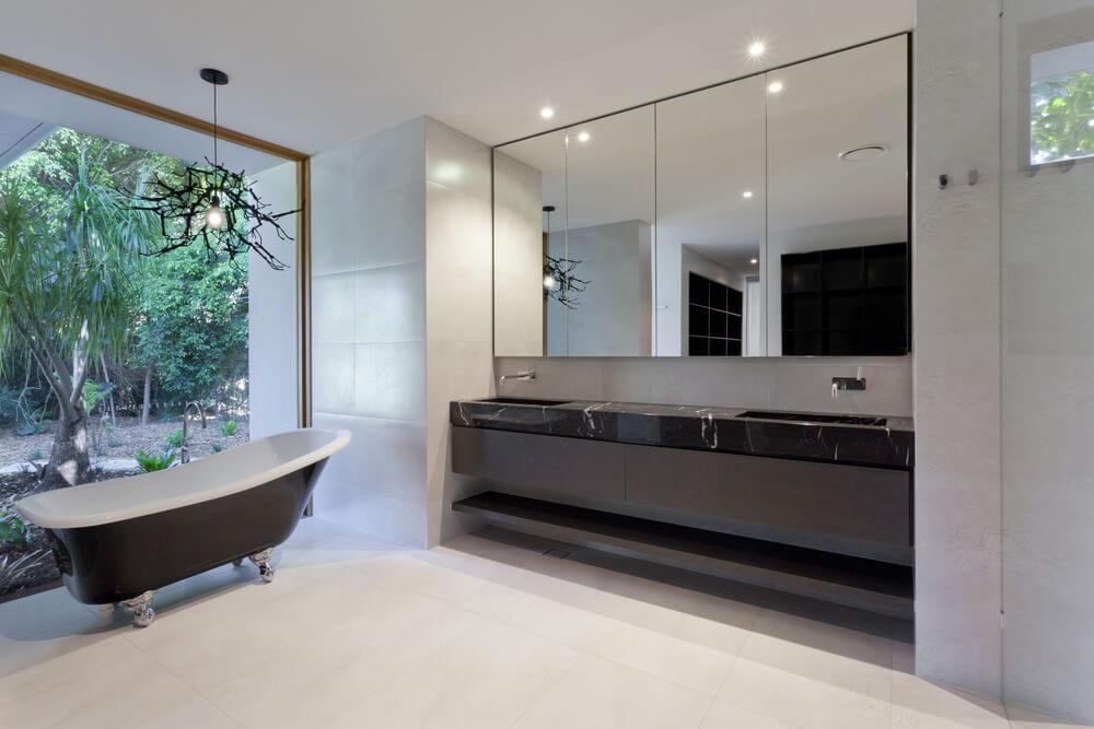 45 modern bathroom interior design ideas for Miroir 2m