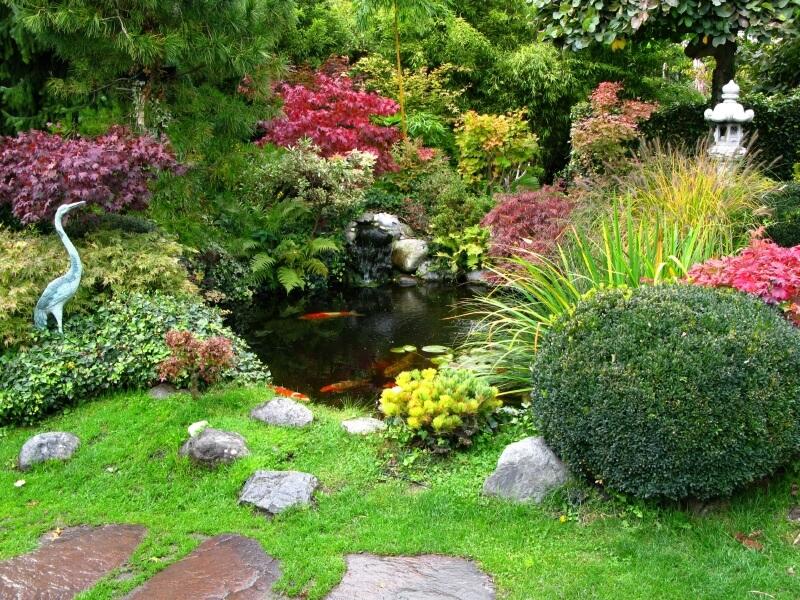 38 backyard pond ideas designs pictures d coration for Japanese garden bushes