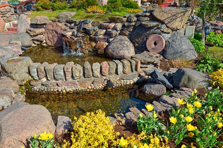 37 backyard pond ideas designs pictures for Rock ponds designs