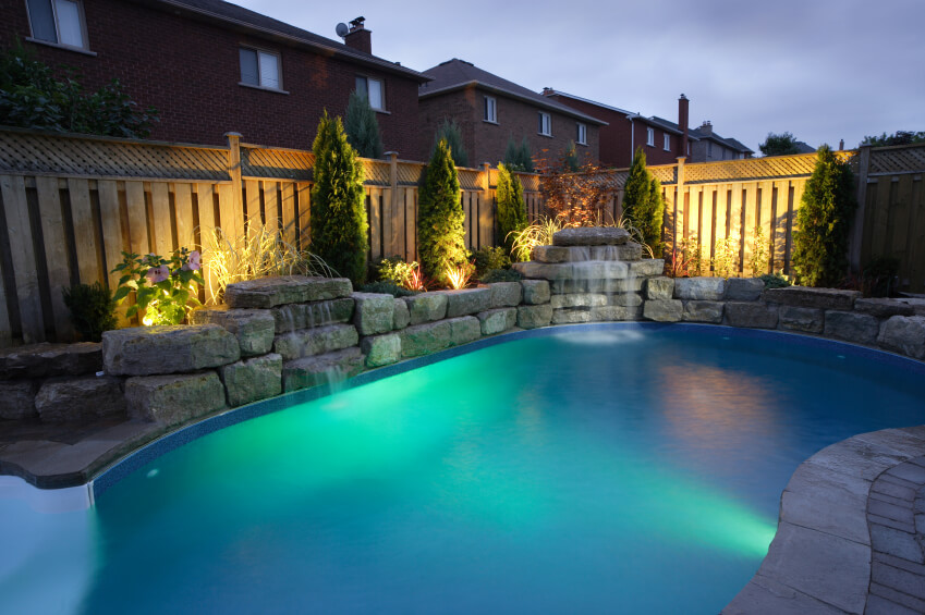 landscape lighting around pool 50 upscale backyard outdoor in ground swimming pools