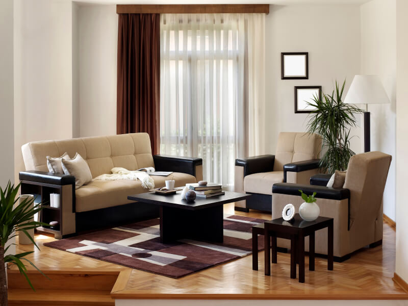 50 beautiful small living room ideas and designs pictures for Black front room furniture