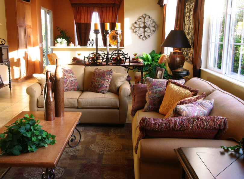 50 beautiful small living room ideas and designs pictures for Tuscan decorations for home