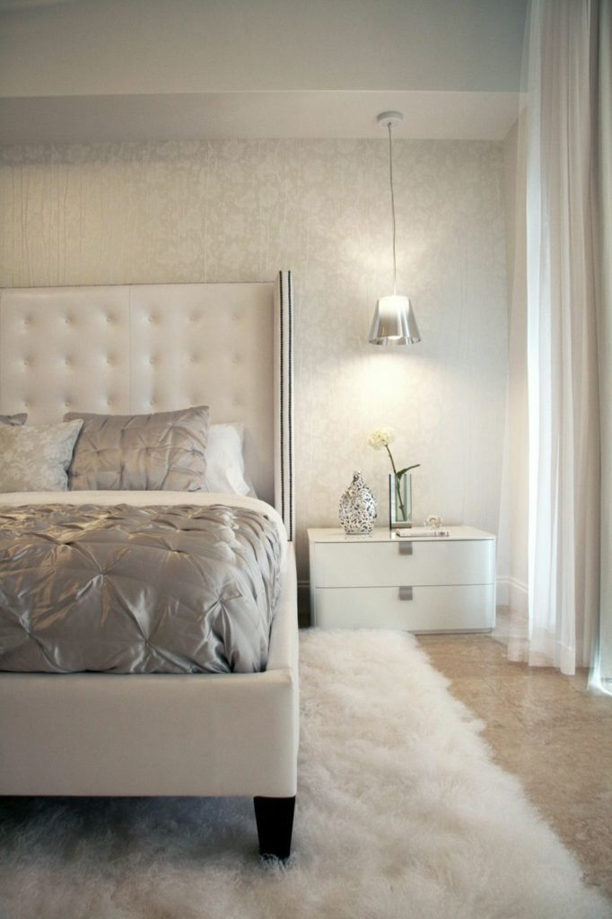 Bright and contemporary russian glam interior design by for White fur bedroom