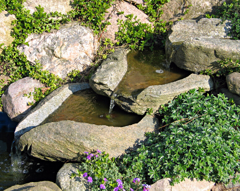 50 pictures of backyard garden waterfalls ideas designs for Ornamental pond waterfall