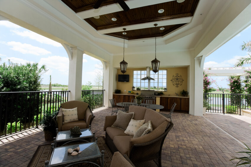 while many of the covered patios in this collection are connected directly to the main home - Covered Patio Designs