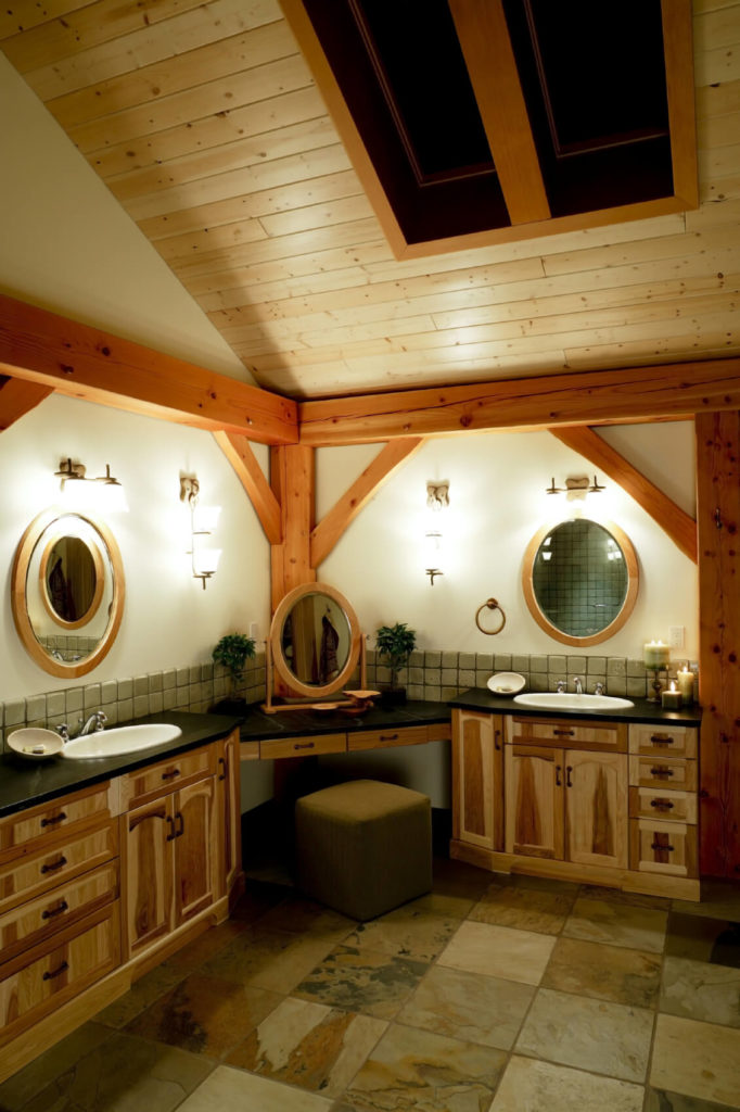 High Quality This Delightful Luxury Bathroom Features Natural Stone Floors That Offer  Texture And Interest In Variation.