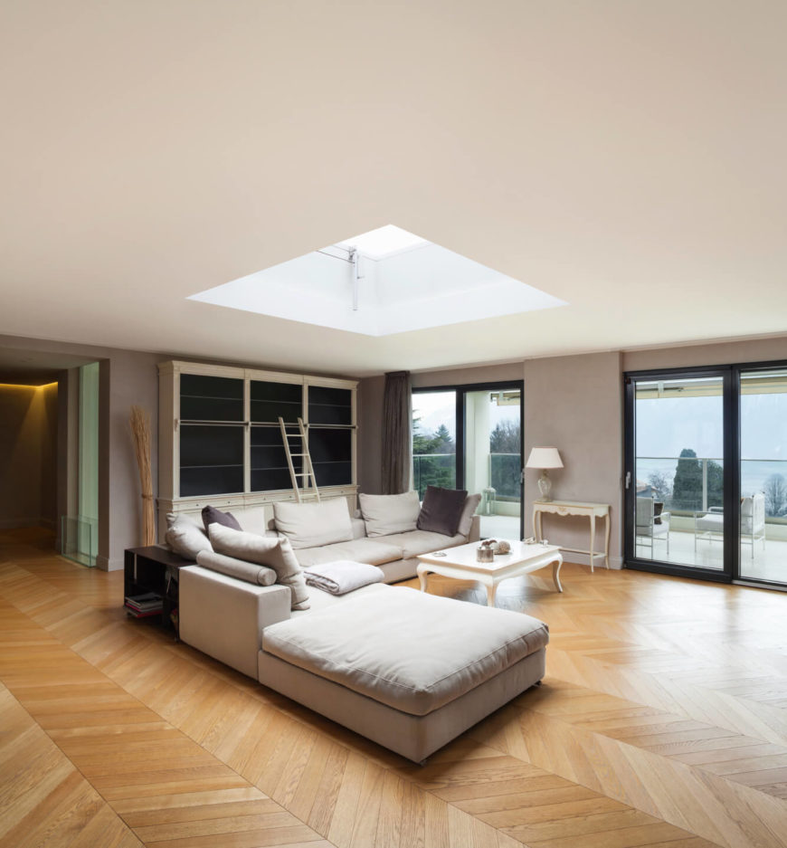 Wood Design For Living Room 30 Naturally Lit Living Rooms With Skylights Pictures