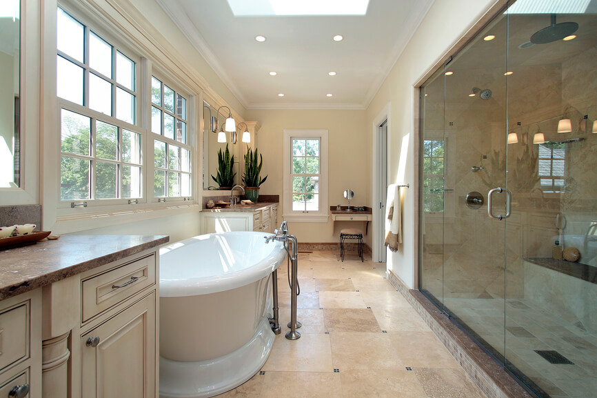 50 Beautifully Lit Bathrooms With Skylights D Coration