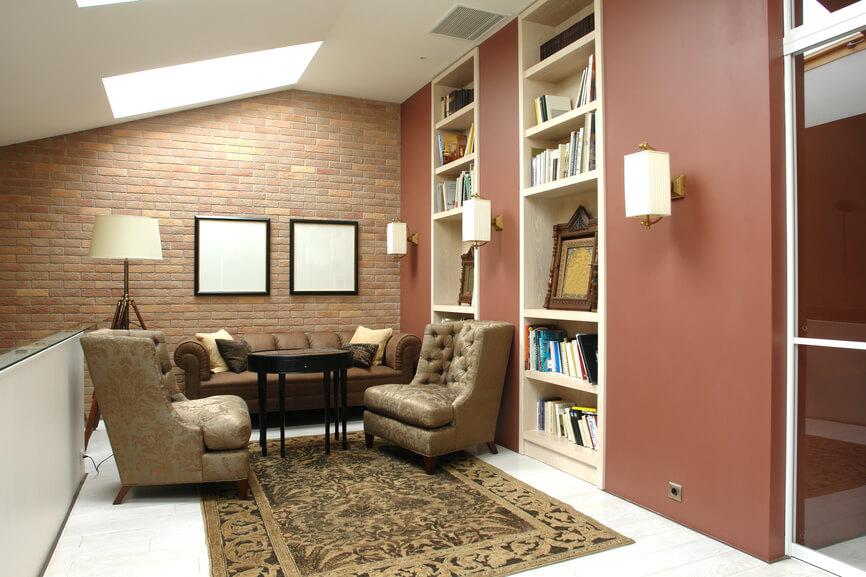 Living Room With Multiple Doorways