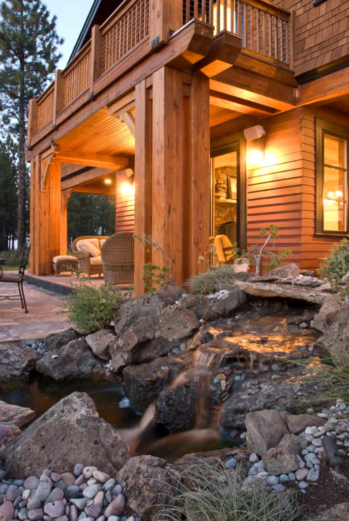 55 luxurious covered patio ideas pictures for Rustic covered decks