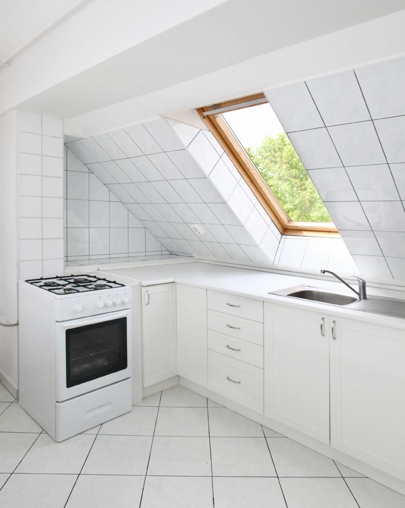 52 beautiful kitchens with skylights pictures - Houses attic enclosed kitchen ...
