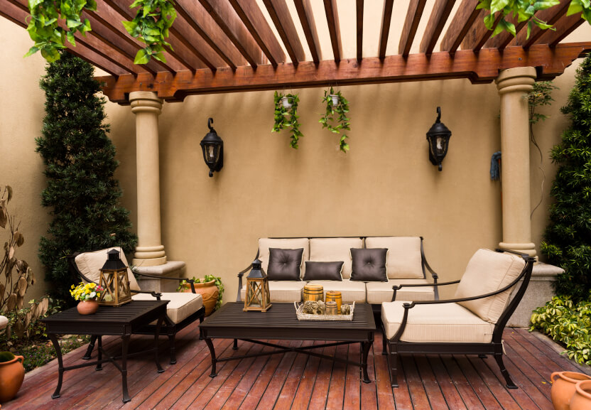 55 luxurious covered patio ideas pictures for Outdoor furniture spain
