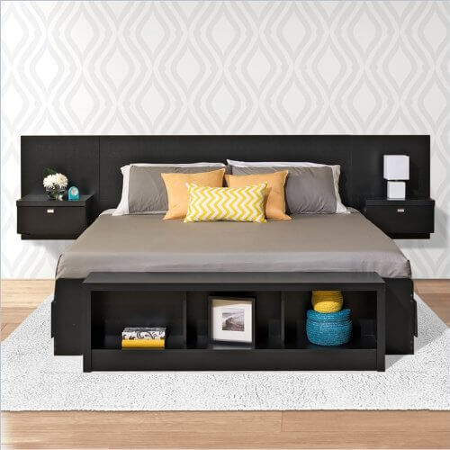 storage bed with three drawers on each side of the bed. The floating ...