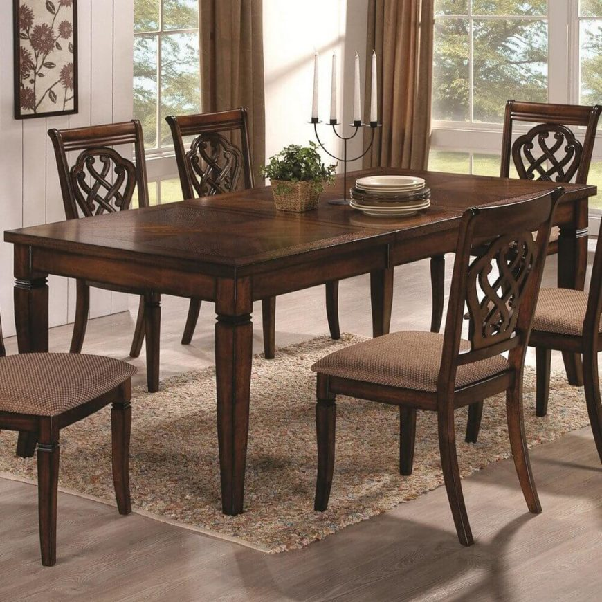 20 wood rectangle dining tables that seats 6 under 500 for 3 leaf dining room tables