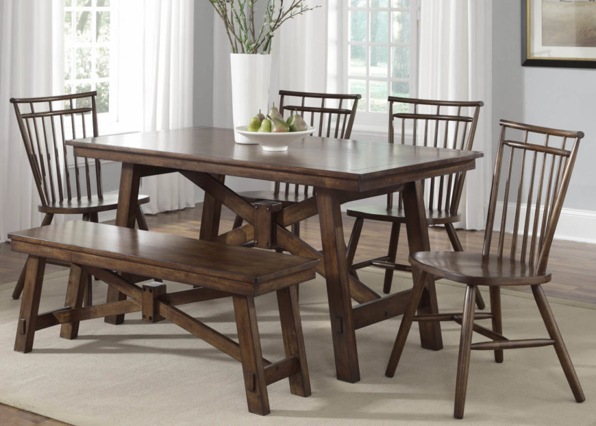 20 Wood Rectangle Dining Tables that Seats 6 Under $500