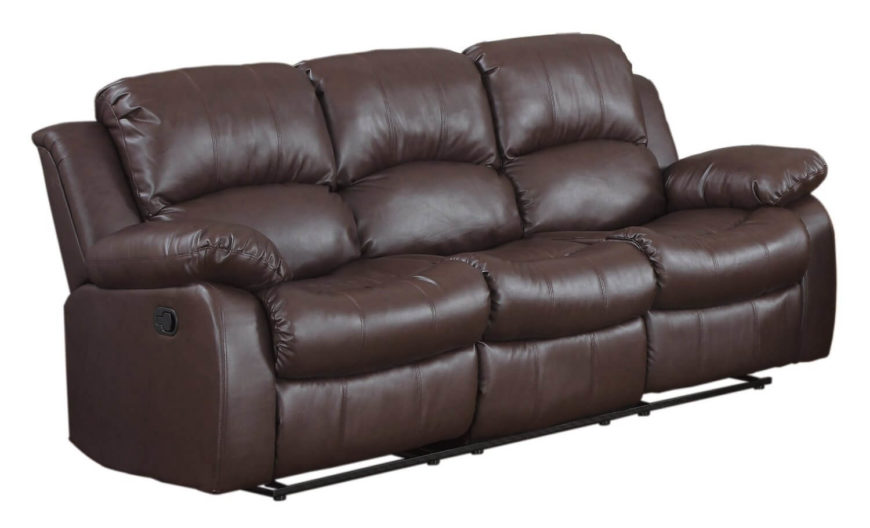 This Ultra Cushy Sofa Features Full Double Reclining Action For Extreme Relaxation Chocolate Leather