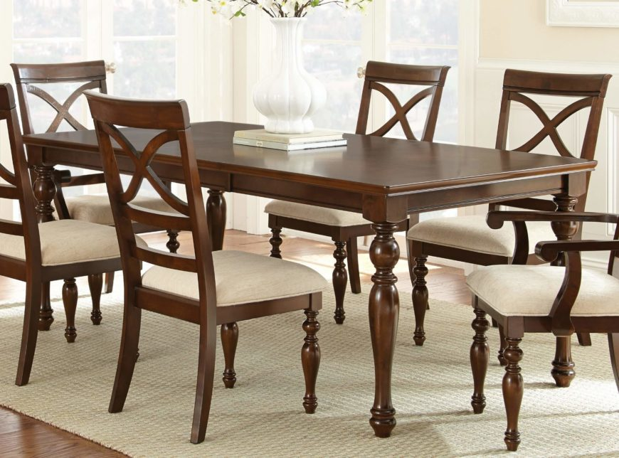 20 wood rectangle dining tables that seats 6 under 500 for Best dining table under 500