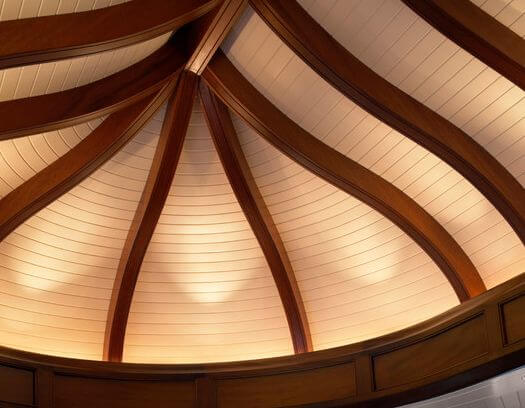 10 fantastic rooms with flex trim by ceiltrim inc for Arched ceiling beams
