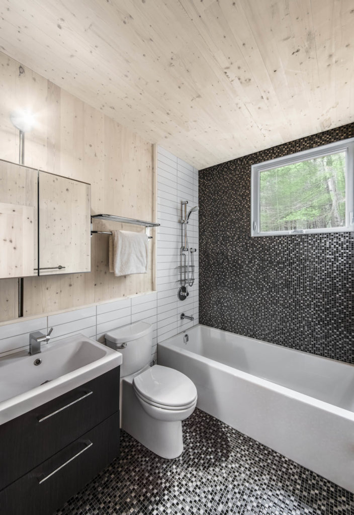 How To Create A Greyscale Bathroom: Cross Laminate-Timber Cottage Project By Kariouk Associates