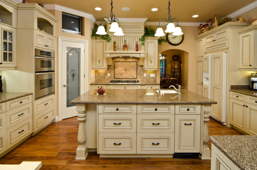 Kitchen Wall Color With Off White Cabinets Kitchen With Antique
