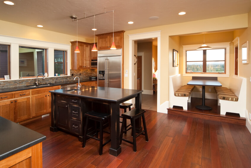34 Kitchens With Dark Wood Floors Pictures