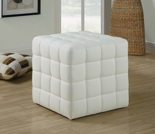 25 white leather ottomans square rectangle for Ottoman to sit on