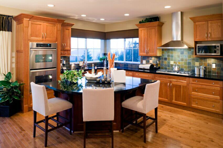 37 fantastic l shaped kitchen designs for T shaped dining room