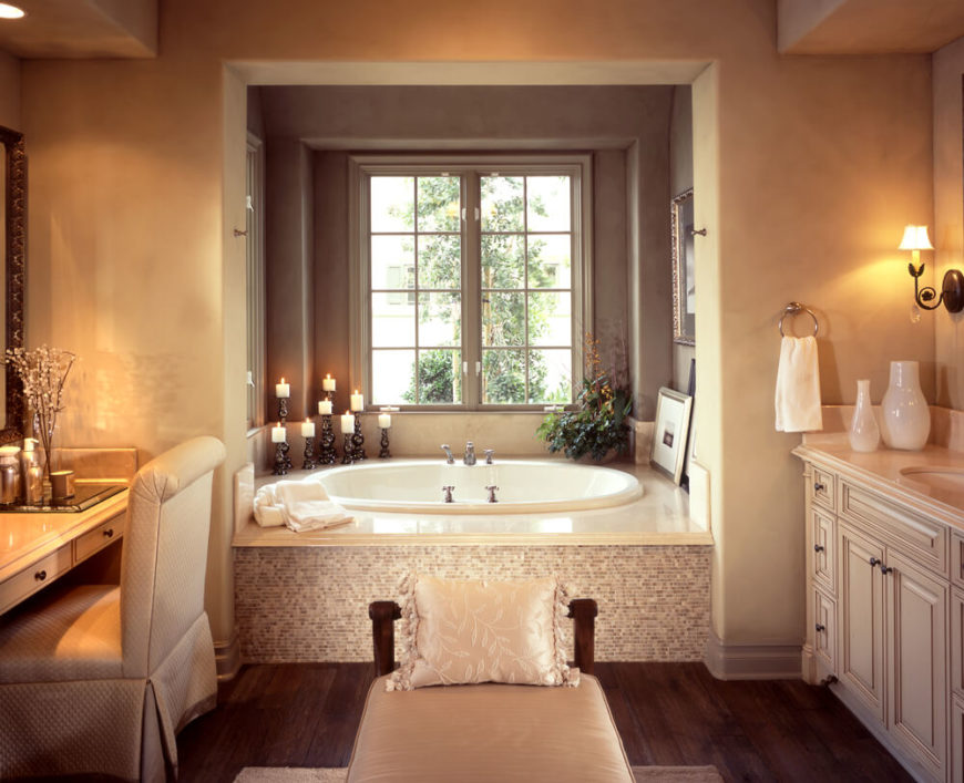 32 bathrooms with dark floors for Pretty bathrooms