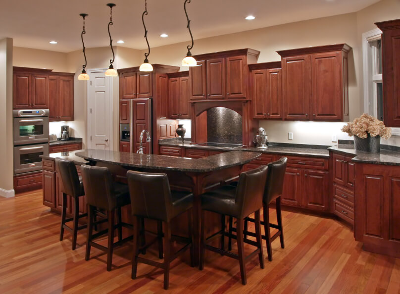 34 Kitchens with Dark Wood Floors (Pictures)