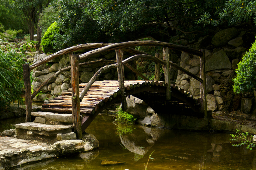 Japanese Garden Stone Bridge 49 backyard garden bridge ideas and designs (photos) | home