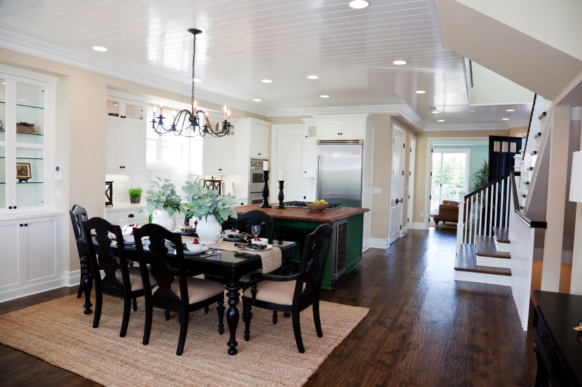 35 Striking White Kitchens with Dark Wood Floors PICTURES : 21 white kitchen dark wood floor from www.homestratosphere.com size 849 x 565 jpeg 119kB