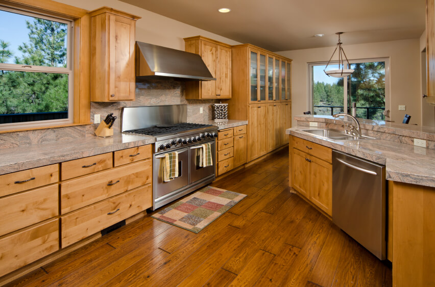 34 kitchens with dark wood floors pictures Kitchen colors with natural wood cabinets