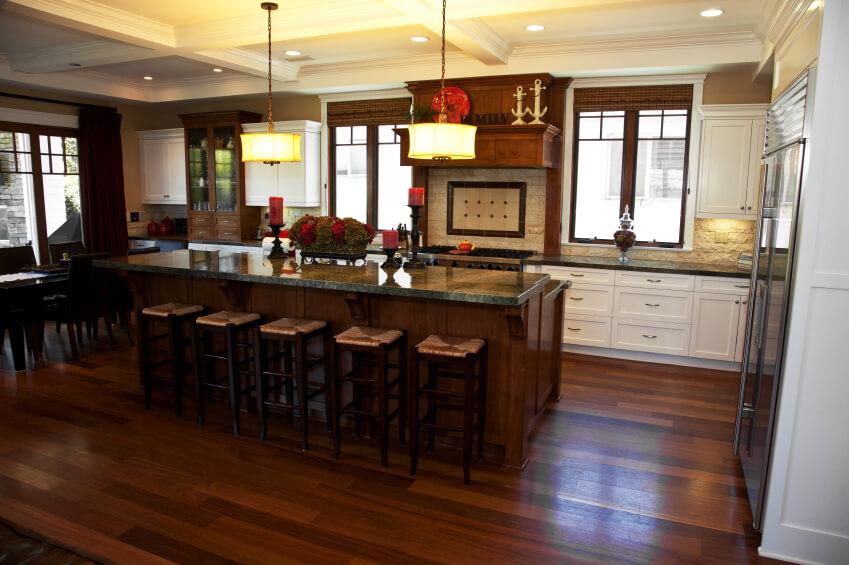 Kitchens Dark Wood Cuoboard