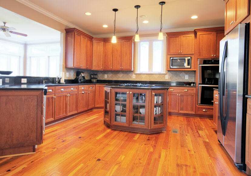 Kitchen Cabinets Matching Floors