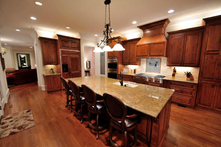 Grey Wood Kitchen Table Modern