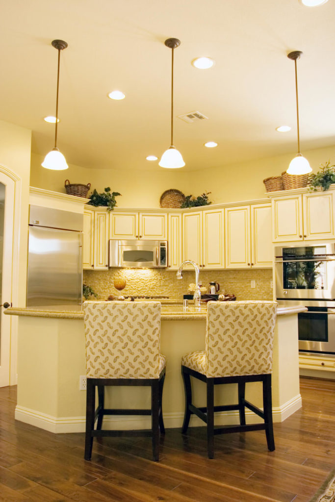 Yellow Painted Kitchens Photos