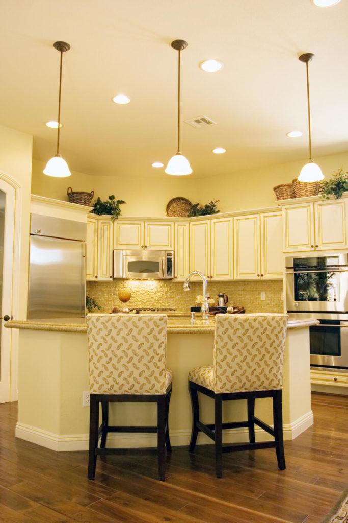 Darker Hardwood Kitchen Floors