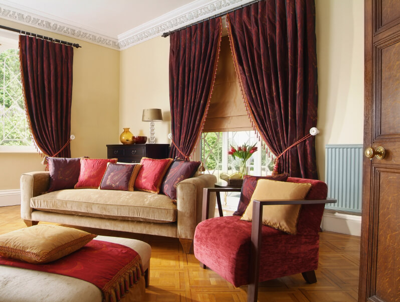 Thick Drapes Are A Hallmark Of Traditional Design, And Go Well With The  Parquet Floor Part 96
