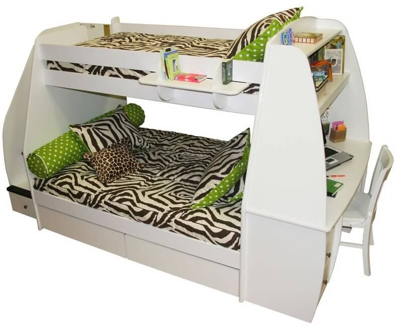 25 awesome bunk beds with desks perfect for kids. Black Bedroom Furniture Sets. Home Design Ideas