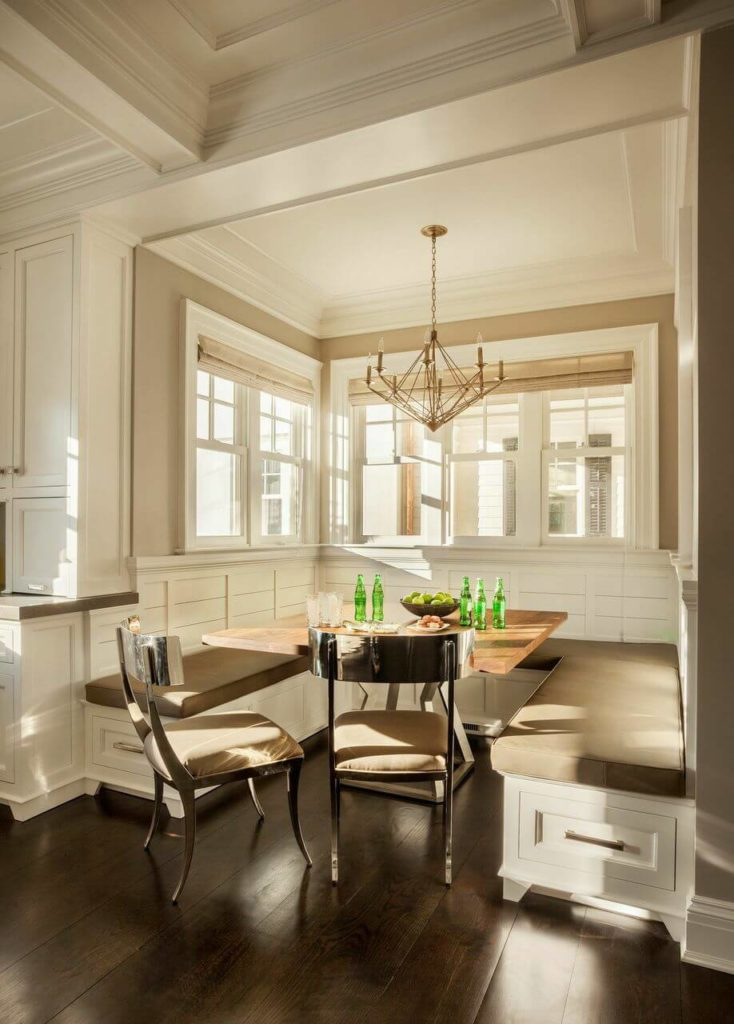 Stately new canaan east coast remodel by garrison for U shaped dining room