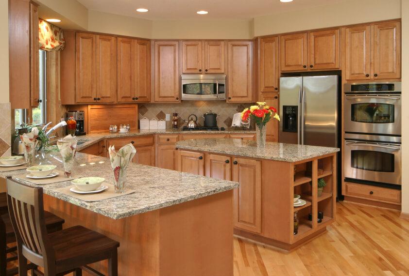 White Appliances Galley Kitchen